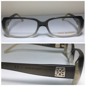 Tory Burch Olive Faded Gray Eyeglasses Frames NWOT